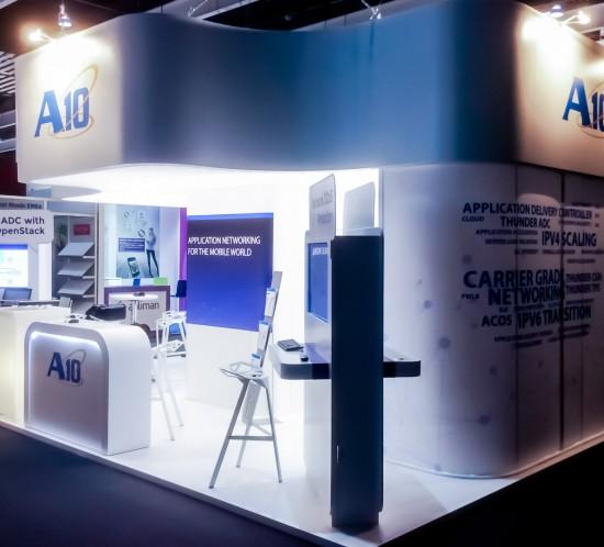 Diseño y Construcción Stand A10 · Feria GSMA